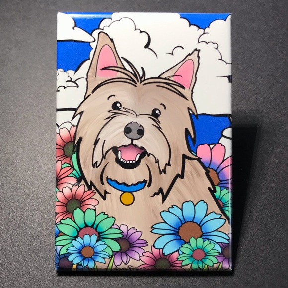 Cairn Terrier Dog Breed Kitchen Refrigerator Locker Button Magnet